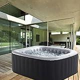 Whirlpool MSpa aufblasbar für 4 Personen 158x158cm In-Outdoor Pool 108 Massagedüsen Timer Heizung...
