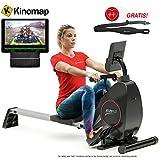 Sportstech Rudergerät RSX400 mit Smartphone APP, Pulsgurt inkl. - Rudermaschine für Ihr Zuhause,...