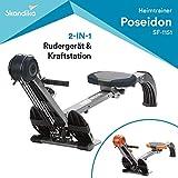 skandika Rudergerät Regatta Multi Gym Poseidon, Geräusch-/Wartungsarmes Bremssystem über...