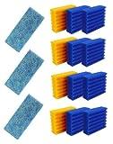 Pondlife 12 Stück Filterschwämme 8 Blaue und 4 gelbe...