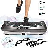 ANCHEER Profi Vibrationsplatte mit 2 Leistungsstarke Motoren, 3D Vibrationsgeräte Fitness,...