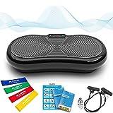 Bluefin Fitness Ultraflache Vibrationsplatte mit Leisem 1000-Watt Motor | LCD Display & Bluetooth...