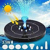 Prenine Solar Springbrunnen Schwimmend 3.5W mit LED...