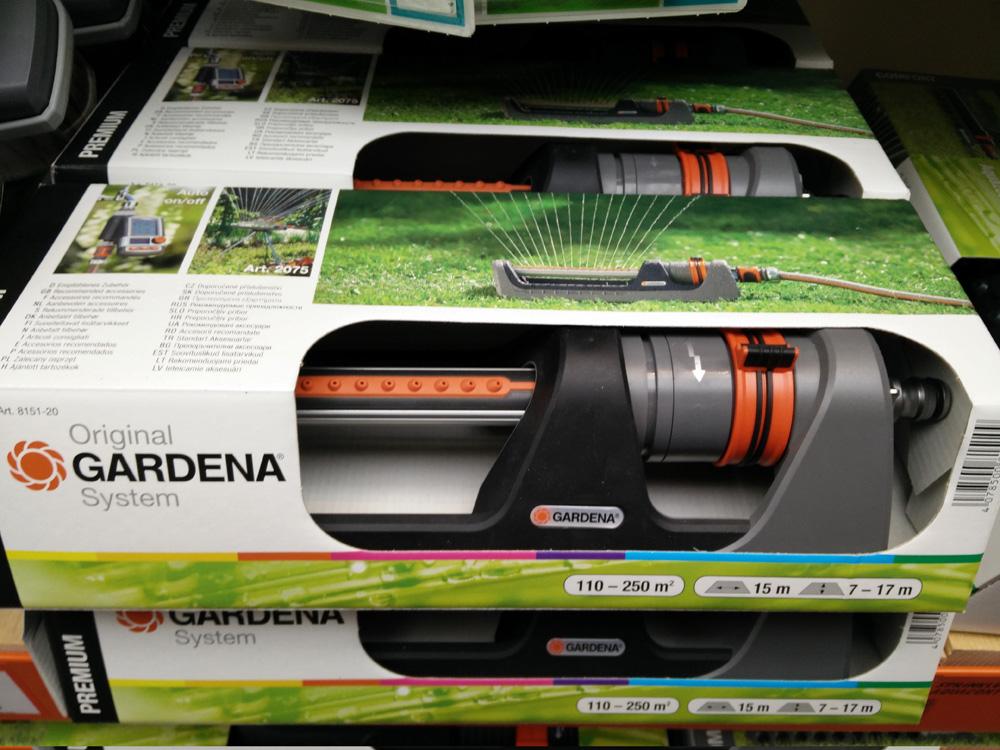 Vie GRÜNTEK Rasensprenger bis 462 m2 für große Rasenflächen mit TURBO-Motor