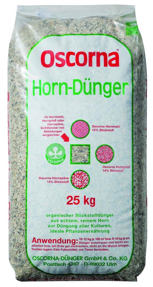 Hornspäne und Hornmehl als Dünger
