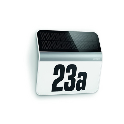 Solar Hausnummer - Beleuchtete Hausnummer - Solar Hausnummernleuchte