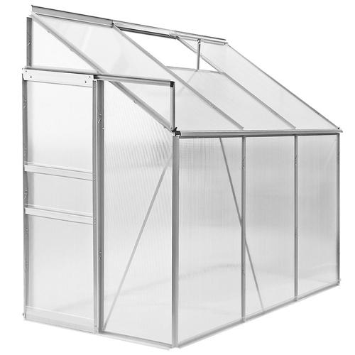 Anlehngewächshaus Glas Holz