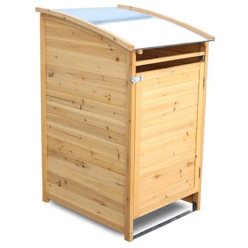 Mülltonnenhaus Mülltonnenverkleidung aus Holz Metall Edelstahl Kunststoff