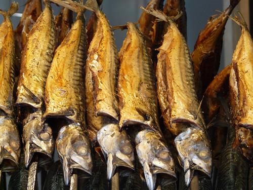 geräuchterter Fisch