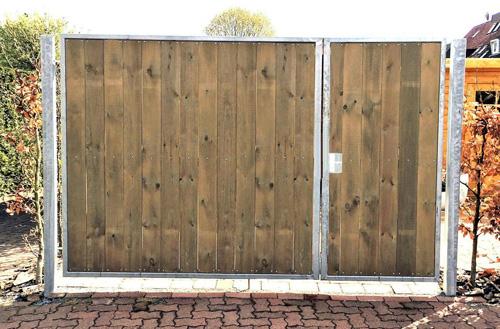 Gartentor Gartentür und Hoftor aus Holz und Metall