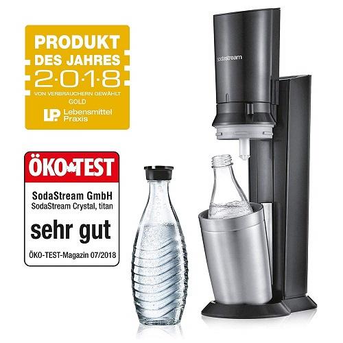 Sodastream Wassersprudler Crystal 2.0 glas Glasflasche